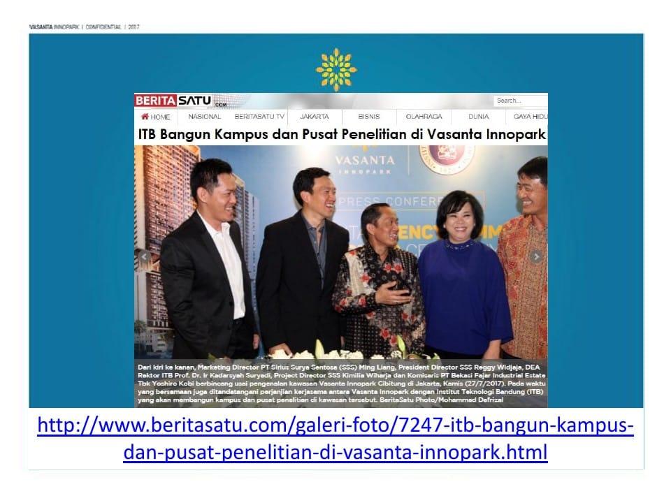 Entrepreneur University ITB, ITB Technopark Vasanta Innopark