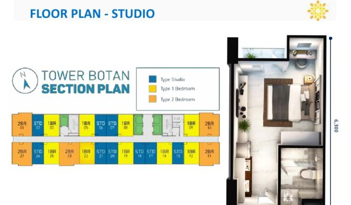 Tower Botan Apartemen Vasanta Innopark Type Studio