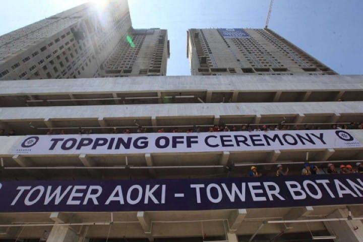 Topping Off Tower Aoki Botan Vasanta Innopark